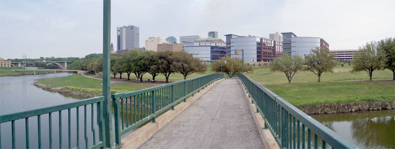 Fort Worth, from a Bridge