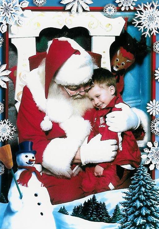Santa and grandson