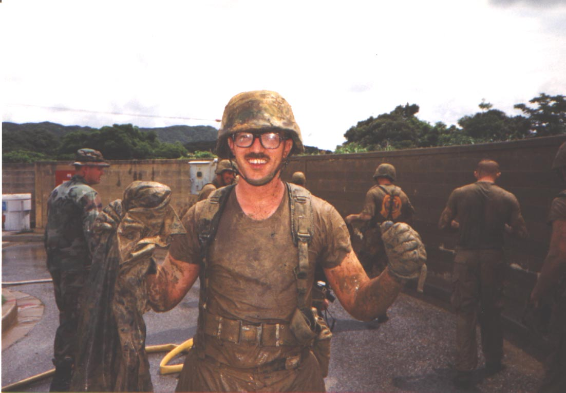 yours truly after an endurance course on Okinawa